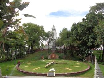 Bij Woat Phnom. Hoe laat is het?