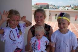Met juf Eunice werkten we in de zomer over indianen!