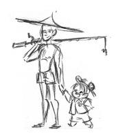 Nog een tekening van de mensen in Cambodja.