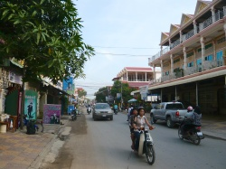 Straatbeeld in Phnom Penh