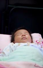 Een van de pasgeboren babies.