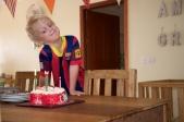 De verjaardag van Talitha. Trotse Micha.