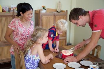 En de taart was lekker, maar zoet...