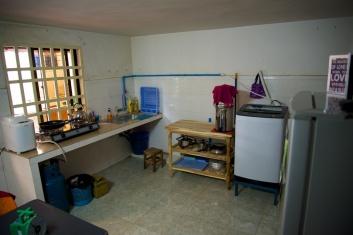 De keuken is steeds completer.