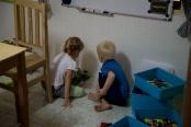 We spelen elke dag met de lego!