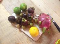 Genieten van lokaal fruit...