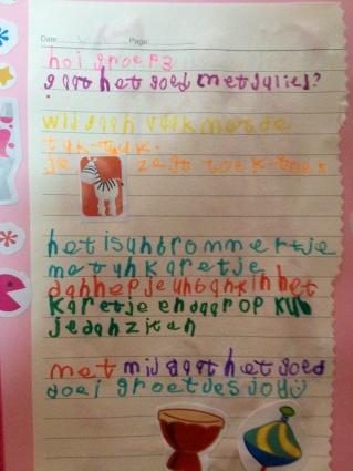 Hoi groep 3 - een brief van Joy!