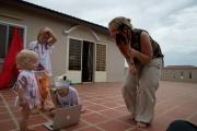 Homeschooling op het balkon :)
