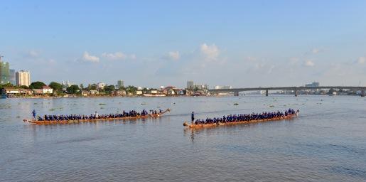Bootraces op de rivier