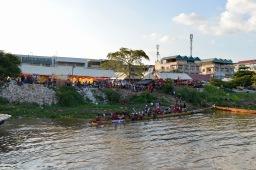 Het kamp waar de roeiers verblijven