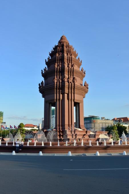 Het independence-monument, lekker rustig tijdens de festiviteiten